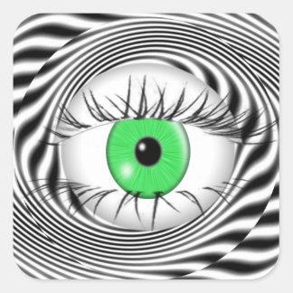 HYPNOTIC EYE - HYPNOTIST SQUARE STICKER
