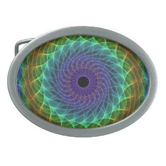 Hypnotic Eye - Rainbow Belt Buckle