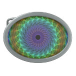 Hypnotic Eye - Rainbow Oval Belt Buckles
