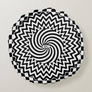 Hypnotic eye round pillow