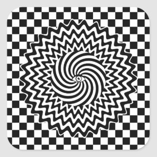 Hypnotic eye square stickers