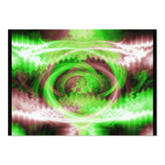 "Hypnotic Fractal 5"" X 7"" Invitation Card"