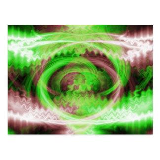 Hypnotic Fractal Postcard