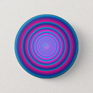 Hypnotic Fuzzy Purple Crazy Circular Vortex Disc Button
