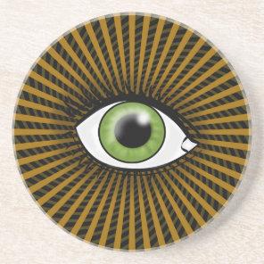 Hypnotic Green Eye Coaster