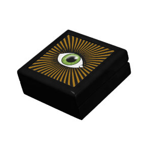 Hypnotic Green Eye Keepsake Box