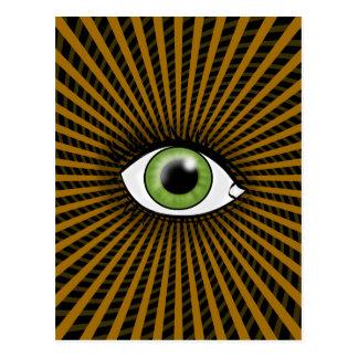 Hypnotic Green Eye Postcard