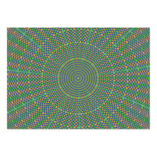 Hypnotic green star business card template
