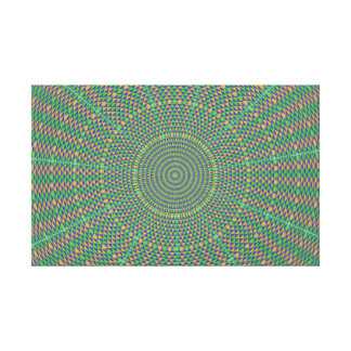 Hypnotic green star stretched canvas prints