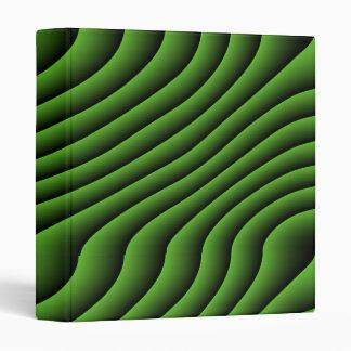 Hypnotic Green Wavy Lines Binder
