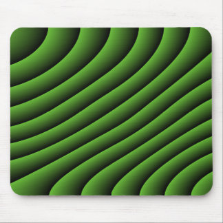 Hypnotic Green Wavy Lines Mousepad