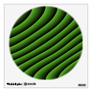 Hypnotic Green Wavy Lines Wall Decal