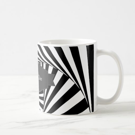Hypnotic Hipster Georgeous Pattern Black and White Classic White Coffee Mug