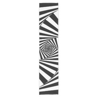 Hypnotic Hipster Georgeous Pattern Black and White Short Table Runner
