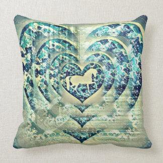 Hypnotic Horse Throw Pillow