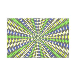 Hypnotic kaleidoscope gallery wrap canvas