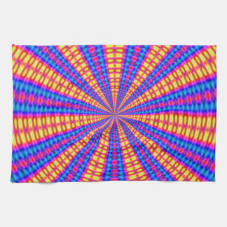 Hypnotic kaleidoscope kitchen towels