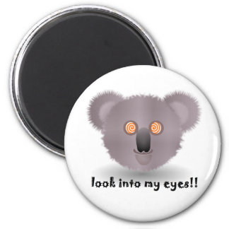 hypnotic koala bear 2 inch round magnet