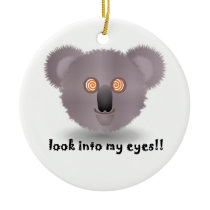hypnotic koala ceramic ornament