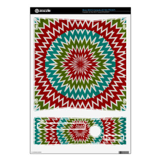 Hypnotic mandalaic flower xbox 360 s console decal