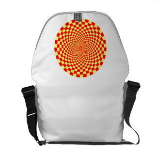 Hypnotic Optical Illusion Courier Bag