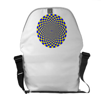 Hypnotic Optical Illusion Messenger Bag