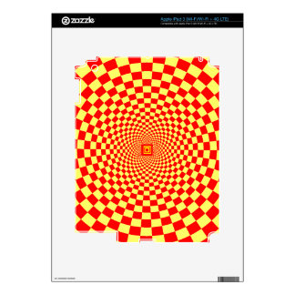 Hypnotic Optical Illusion Decal For iPad 3