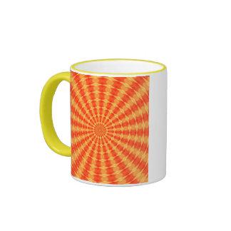 Hypnotic Orange Kaldeidoscope Mugs