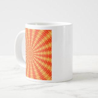 Hypnotic Orange Kaldeidoscope Extra Large Mug