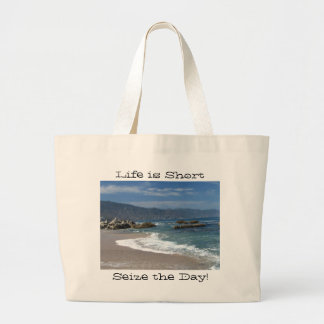 Hypnotic Pacific; Customizable Large Tote Bag