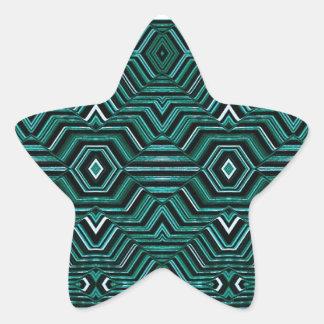Hypnotic Pattern Star Sticker