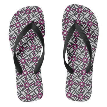 Beach Themed Hypnotic Pink Flip Flops