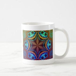 Hypnotic Radiating Fractal Coffee Mugs