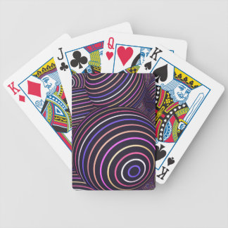 Hypnotic Rainbow Colored Spheres Abstract Bicycle Playing Cards