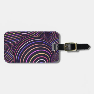 Hypnotic Rainbow Colored Spheres Abstract Luggage Tag