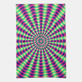 Hypnotic Rings and Beams Hand Towel