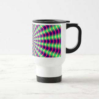 Hypnotic Rings and Beams Travel Mug