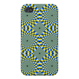 Hypnotic Spinning Optical Illusion Cover For iPhone 4