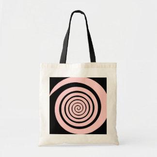 hypnotic spiral budget tote bag