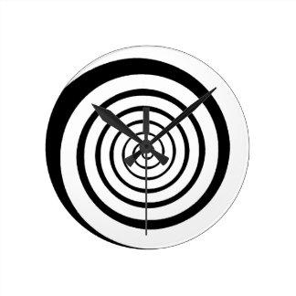 hypnotic spiral round wallclock