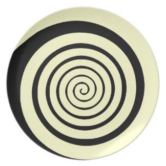 hypnotic spiral dinner plate