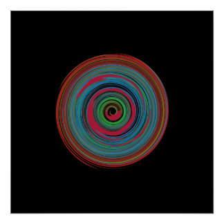 hypnotic spiral for walls poster