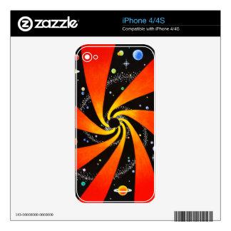HYPNOTIC SPIRAL GALAXY iPhone 4S DECALS