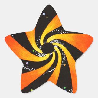 HYPNOTIC SPIRAL GALAXY STAR STICKER