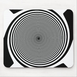 Hypnotic Spiral Mouse Pad