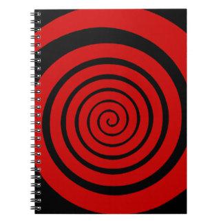 hypnotic spiral spiral note books
