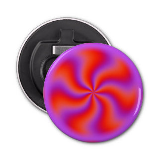 Hypnotic Spiral Optical Illusion Funny Neon Bottle Opener