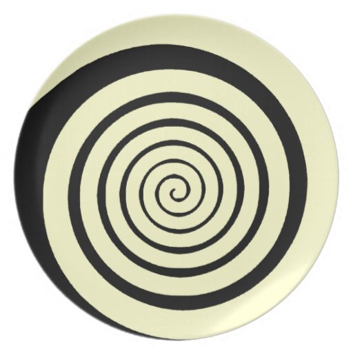 hypnotic spiral party plates