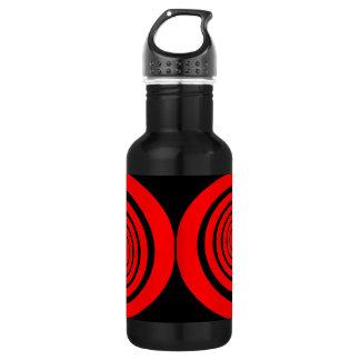 hypnotic spiral 18oz water bottle
