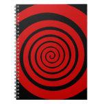 hypnotic spiral spiral notebook